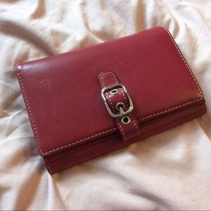 NWT Red coach large wallet